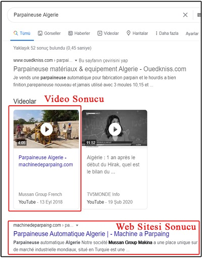 google-seo-video-sonuclari